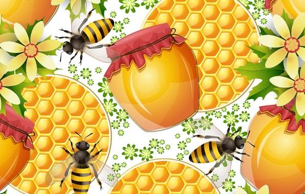 Картинка текстура, пчелы, мед, honey, texture, bees