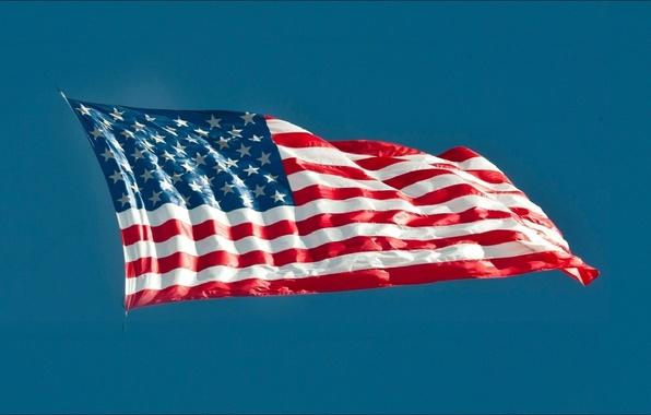 Картинка USA, wallpapers, flag, America