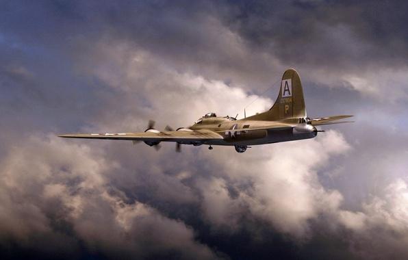 Картинка арт, Boeing, B-17, Летающая крепость, Flying Fortress