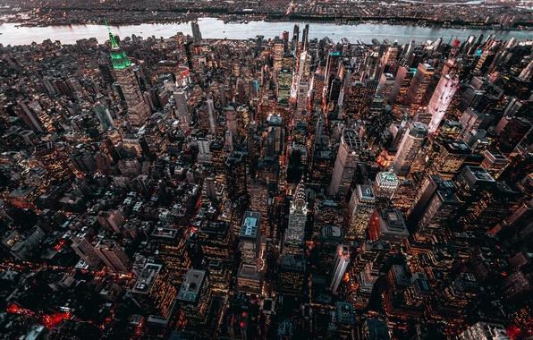 Картинка город, здания, дома, США, Нью Йорк, высотки