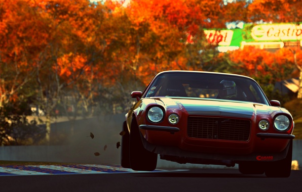 Картинка car, sport, red, game, muscle car, vehicle, Gran Turismo 6, pozzi motorsports camaro rs