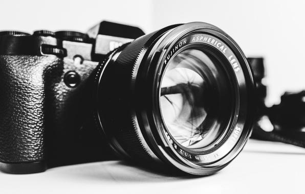Картинка camera, black and white, lens, Fujifilm, b/w, Fujifilm X-T1