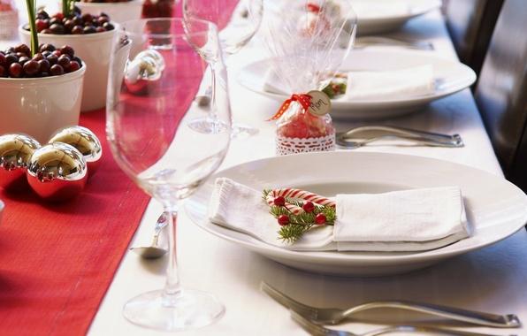 Картинка стол, праздник, новый год, посуда, декорации, happy new year, новогодний, christmas decoration, новогодние обои, сервировка, …