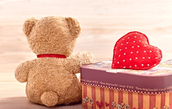 Картинка любовь, сердце, мишка, love, плюшевый, toy, bear, heart, romantic, cute, Teddy