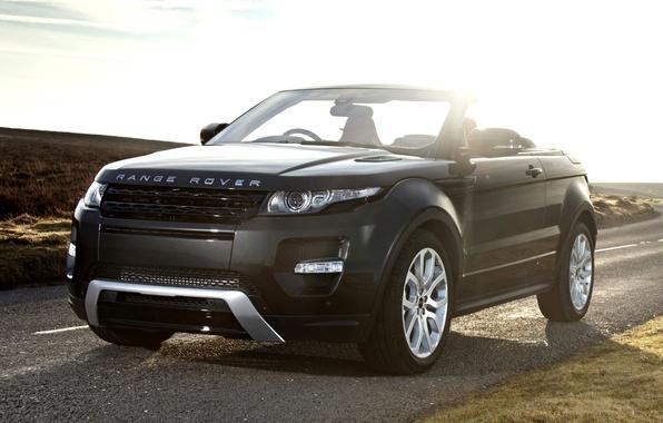 Картинка дорога, небо, concept, концепт, кабриолет, land rover, range rover, convertible, передок, кроссовер, эвок, ренж ровер, …