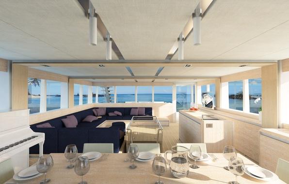 Картинка дизайн, стиль, интерьер, яхта, салон, люкс