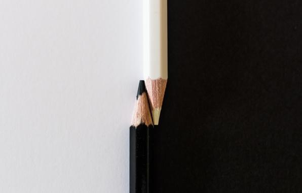 Картинка карандаши, Yin, Yang