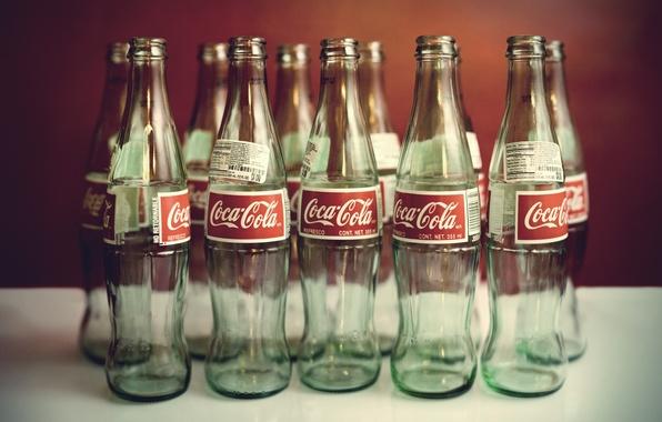 Фото обои вода, стиль, настроение, бутылки, напитки, coca-cola, кока-кола