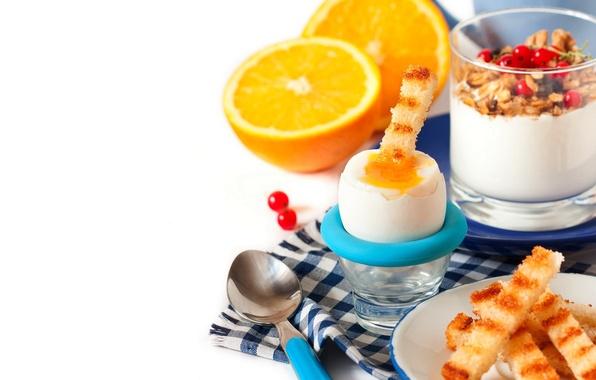Картинка оранжевый, еда, завтрак, молоко, food, orange, breakfast, milk, мюсли, йогурт, granola, yogurt