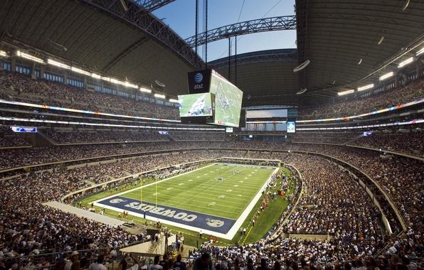 Картинка футбол, stadium, болельщики, техас, стадион, зрители, america, football, dallas, nfl, даллас, ковбойз, cowboys, texas