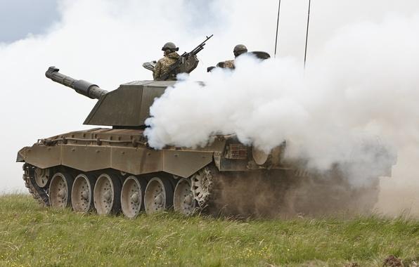 Картинка дым, танк, полигон, маневры