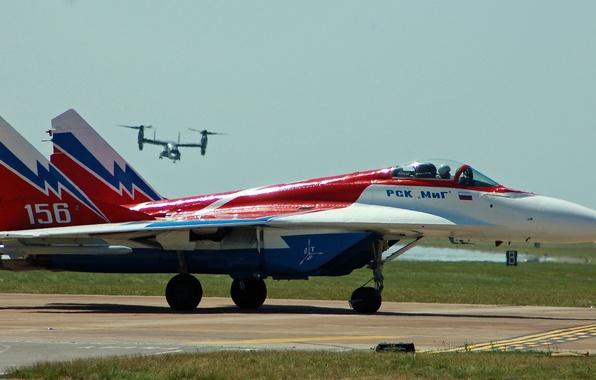 Картинка истребитель, аэродром, многоцелевой, MiG-29, МиГ-29