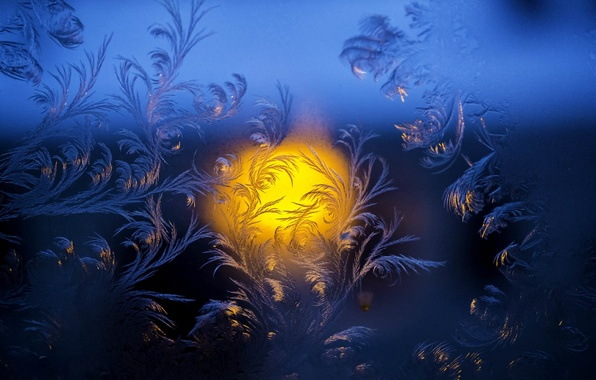 Картинка холод, зима, стекло, праздник, узоры, новый год, мороз, чем не живопись