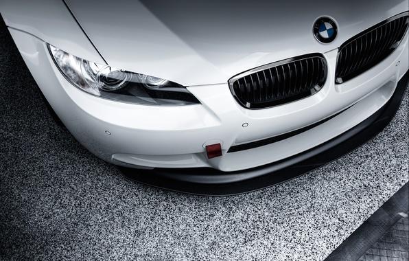 Картинка фара, BMW, бампер, front, E92, silvery, шильдик, 3 Series, радиаторная решётка