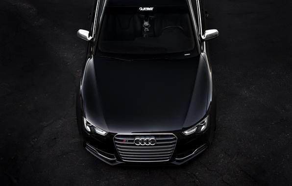Картинка Audi, ауди, чёрная, перед, black, front