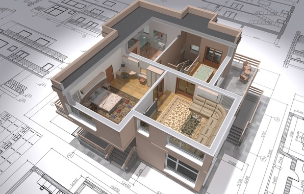 Картинка house, design, architecture, distribution, plans