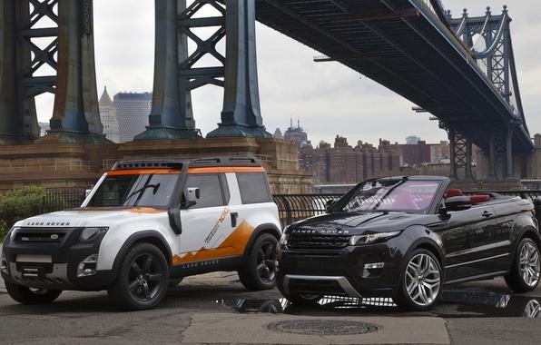 Картинка мост, concept, джип, внедорожник, концепт, кабриолет, land rover, range rover, convertible, and, кроссовер, эвок, ренж …