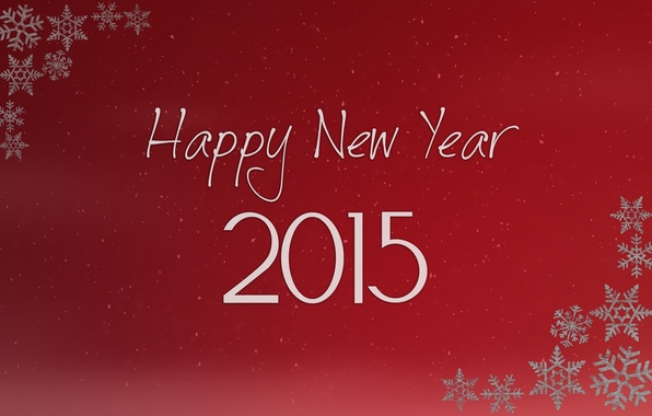 Картинка Desktop, Red, Happy New Year, Christmas, Winter, Snow, Wallpaper, New Year, Background, 2015