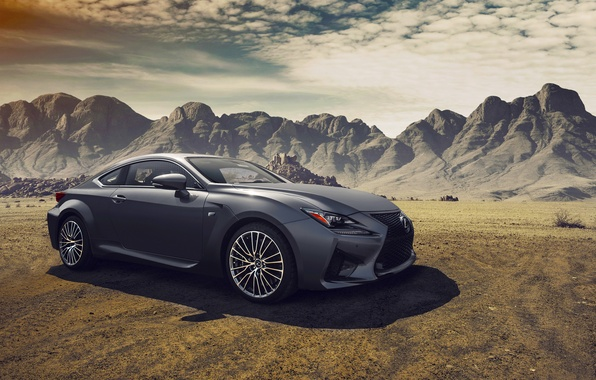 Картинка Lexus, Car, Clouds, Landscapes, Mountains, Sport, Dynamic, RC-F, Fancy, Composite