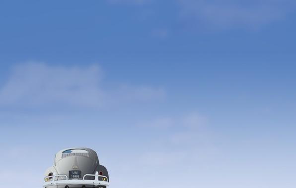 Картинка авто, минимализм, Вектор