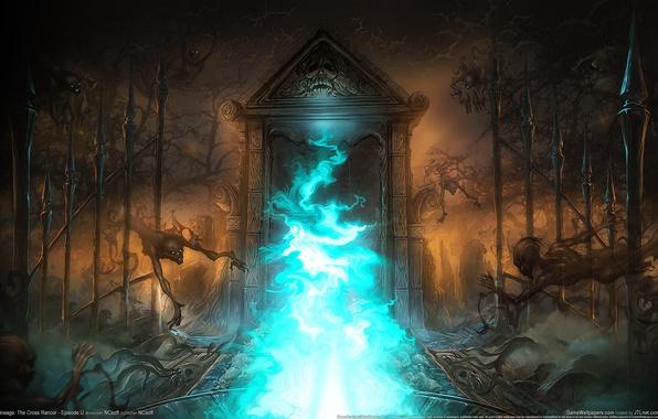 Картинка портал, призраки, lineage, врата, the cross rancor