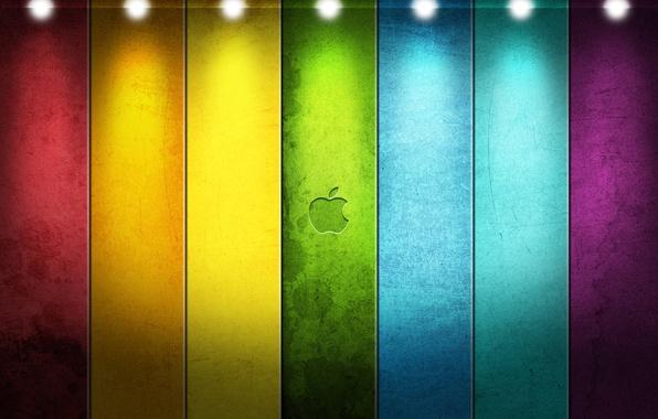 Картинка линии, стиль, ленты, apple, яблоко, логотип, logo