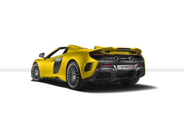 Картинка McLaren, белый фон, суперкар, макларен, Spider, 675LT