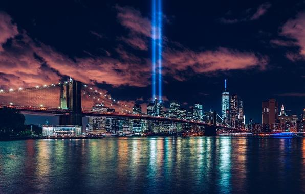 Картинка City, World, Bridge, Center, Manhattan, New-York, 9/11, Trade