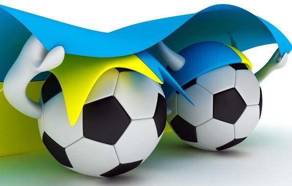 Картинка футбол, спорт, мяч, флаг, 2012, украина