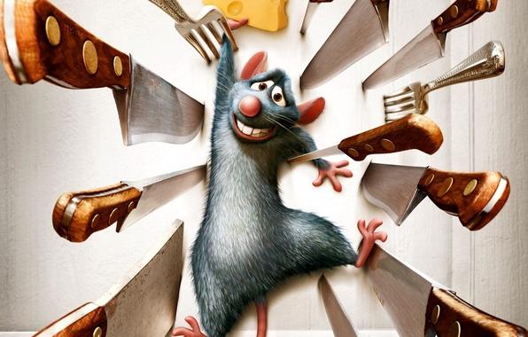 Картинка мультик, рататуй, мышь