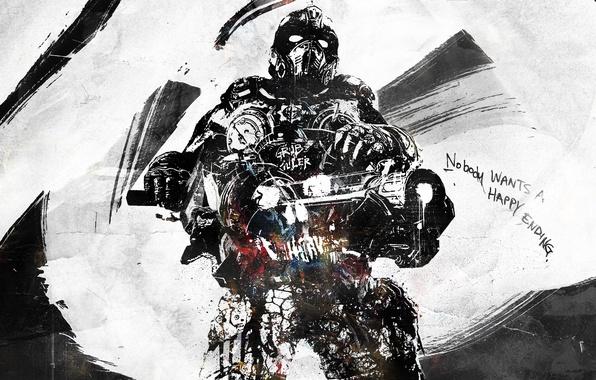 Картинка оружие, солдат, gears of war, vhm-alex, nobody wants a happy ending