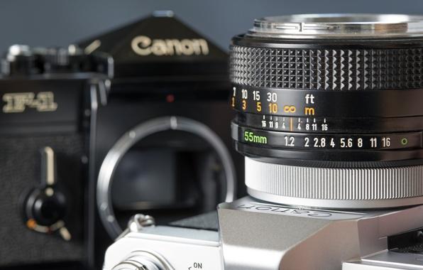 Картинка фон, widescreen, обои, фотоаппарат, объектив, wallpaper, широкоформатные, camera, background, Canon, полноэкранные, HD wallpapers, lens, широкоэкранные, …