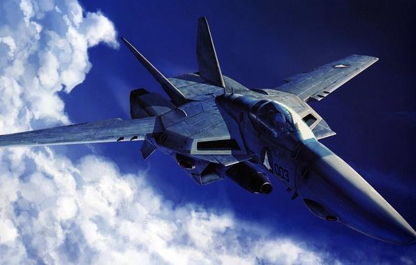 Картинка небо, самолет, будущее, технологии, истребитель, VF-1A Valkyrie Jet Fighter