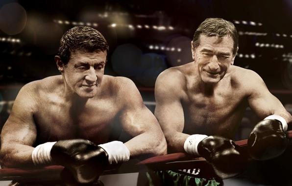 Картинка бокс, перчатки, ринг, Сильвестр Сталлоне, Sylvester Stallone, боксеры, Robert De Niro, Забойный реванш, Роберт Де ...