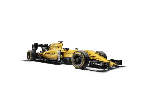 Картинка белый фон, Renault, формула 1, болид, Formula 1, рено, R.S.16