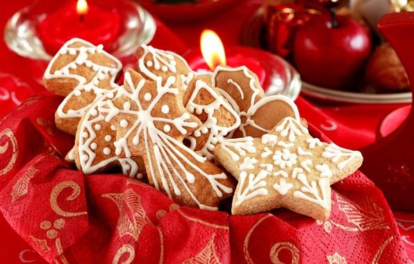 Картинка праздник, новый год, рождество, печенье, сладости, christmas, new year, cookies, новогоднее
