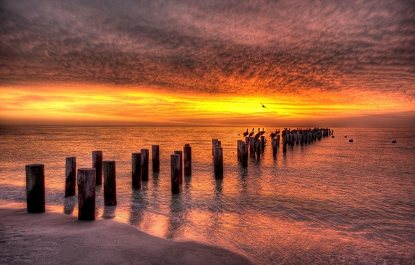 Картинка песок, море, пляж, вода, пейзаж, природа, океан, sea, ocean, coast, water, beaches