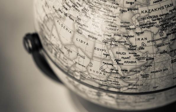 Картинка макро, земля, глобус