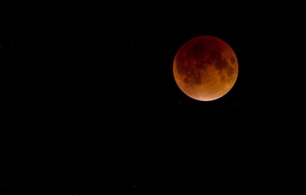 Картинка звезды, луна, спутник, затмение, Moon, кровавая