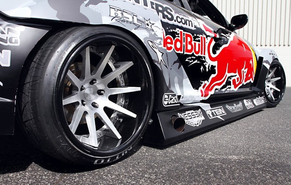 Картинка Mazda, Drift, Tuning, Team, RX-8, Competition, Wheels, Rims, Widebody, Sportcar, Spoiler, Red-Bull Racing, Exhaust
