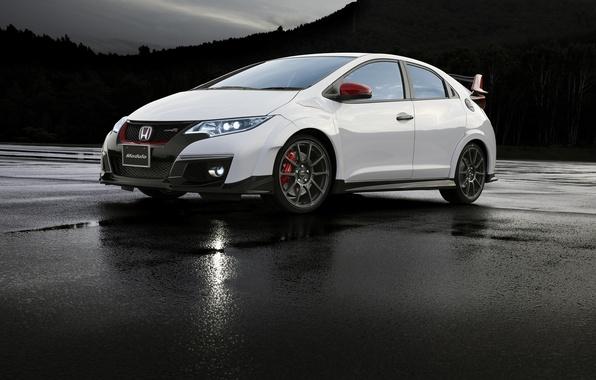 Картинка белая, Honda, хонда, Civic, цивик, Type R, Modulo