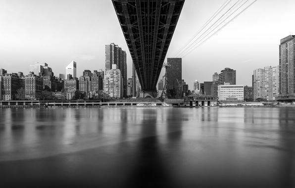 Картинка мост, Нью Йорк, мегаполис, New York, Island, Queensboro Bridge, Roosevelt