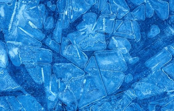 Картинка зима, вода, природа, абстракция, лёд, текстура