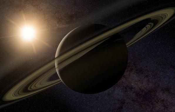 Картинка звезды, кольцо, сатурн