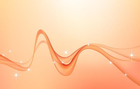 Картинка волна, минимализм, вектор, изгибы, Фон