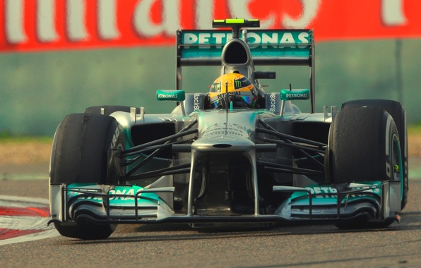 Картинка формула 1, mercedes, болид, Race, Lewis