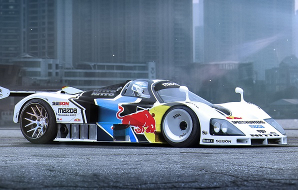 Картинка Mazda, Car, Race, Day, Tuning, Future, Track, by Khyzyl Saleem, 787b