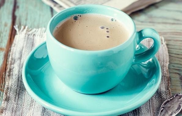 Картинка пена, стол, кофе, кружка, напиток, блюдце, салфетка