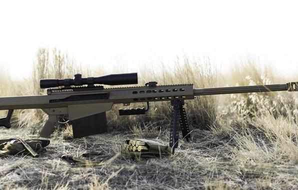 Картинка винтовка, Barrett, снайперская, самозарядная, крупнокалиберная, 82A1