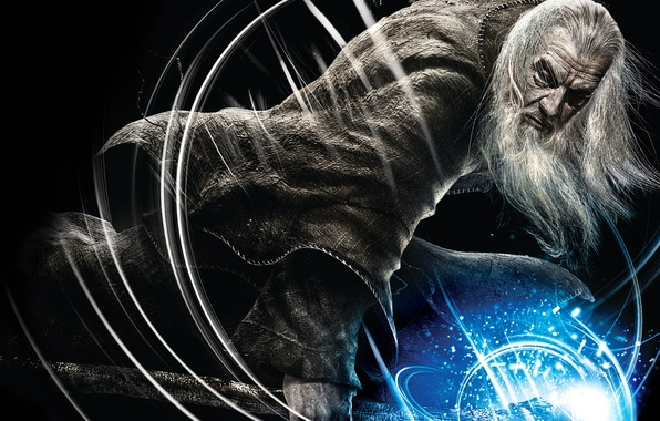 Картинка темный фон, магия, властелин колец, маг, посох, Гендальф, the lord of the rings, Gandalf, Guardians …